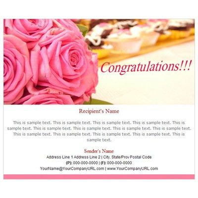 Professional Congratulations Email Templates, Business Email ...