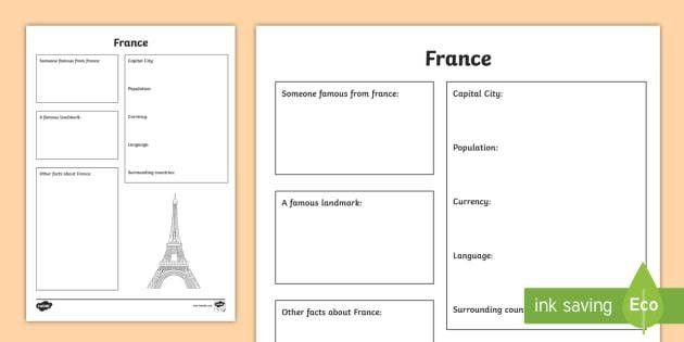 France Factsheet Writing Template - france, france fact sheet
