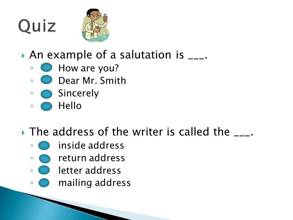 A business letter is a formal communication between people or ...