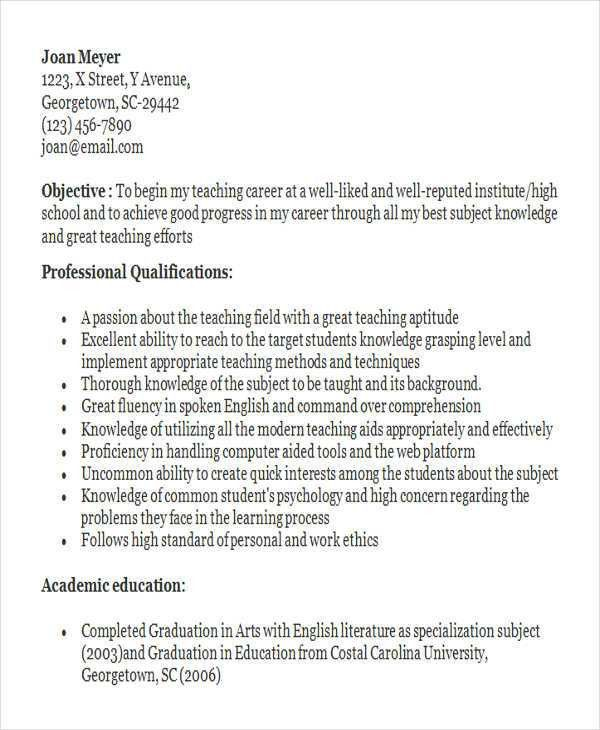 22+ Modern Fresher Resume Templates | Free & Premium Templates