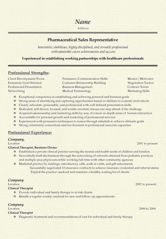 Medical Sales Resume. Best Cover Letters For Resume | Resume ...