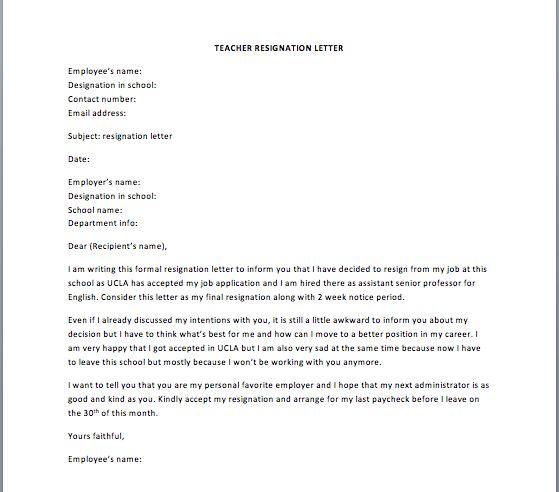Senior Manager Resignation Letter – Smart Letters