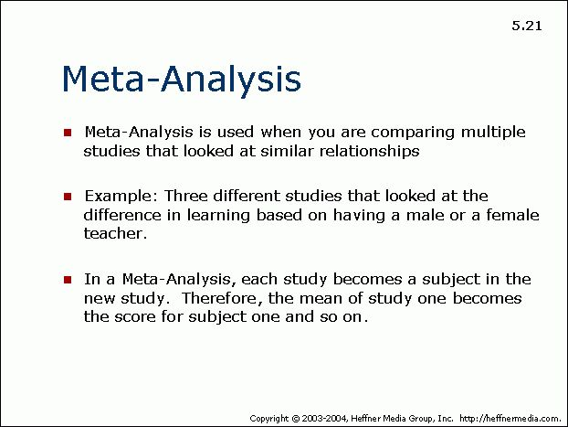 Meta-analysis definition and examples | Medical Word Meanings