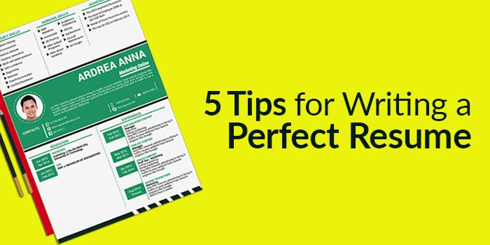 5 Tips for Writing a Perfect Resume / CV
