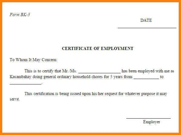 9+ employer's certificate sample | cashier resumes
