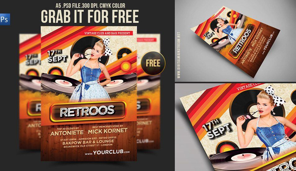 60+ Best Free Flyer Templates PSD | CSS Author