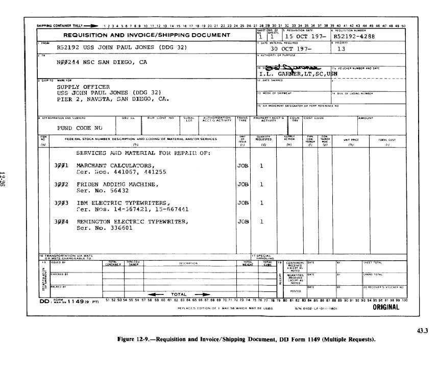 Figure 12-9. Requisition And Invoice/Shipping Document (Mulitple ...