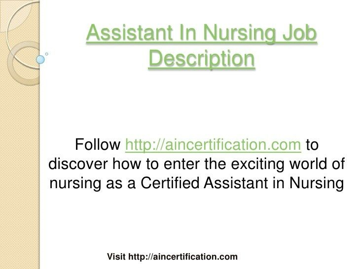resume for cna with experience nursing assistant job description ...
