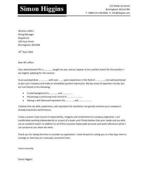 Cover Letter Examples, Template, Samples, Covering Letters, Cv for ...