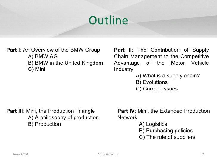 Supply Chain Management in the Motor Vehicle Industry, the Example of…