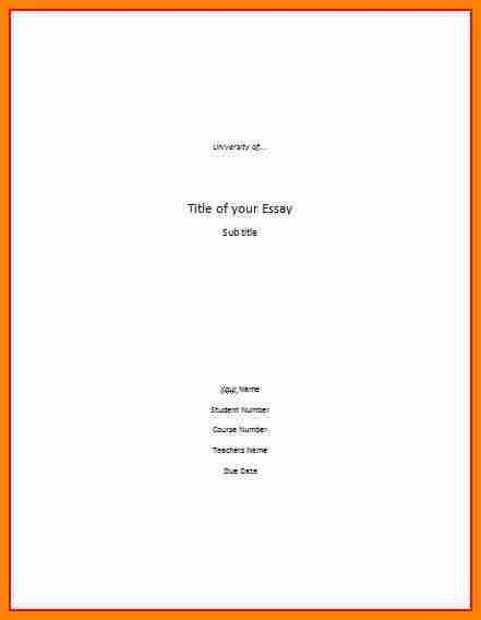 8+ apa cover page example   cinema resume