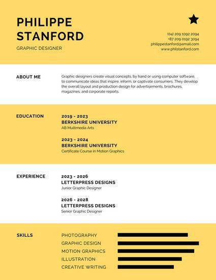 Infographic Resume Templates - Canva