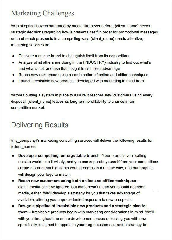 10 Best Images of Marketing Plan Proposal Template - Sample ...