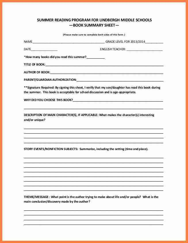 3+ middle school book report | Invoice Example 2017
