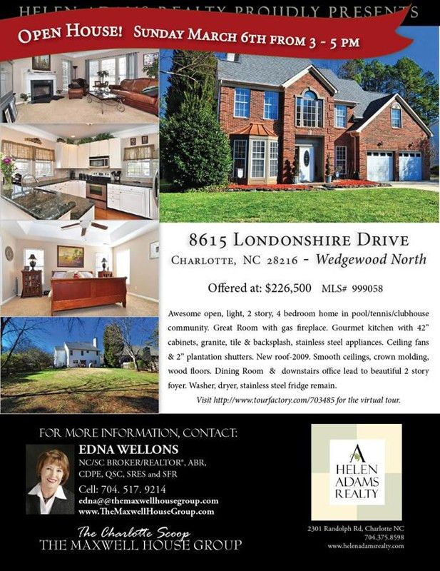 Open House :: Sunday, March 6 from 3:00 - 5:00 :: Wedgewood North