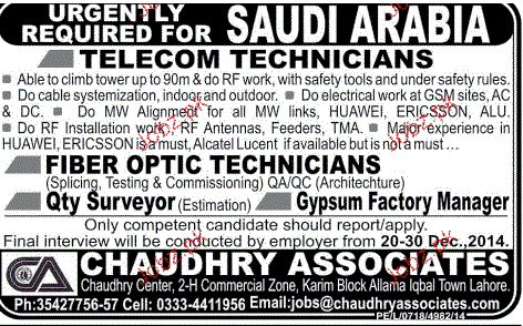 Fiber Optic Technicians, Telecom Technicians Job Opportunity 2017 ...