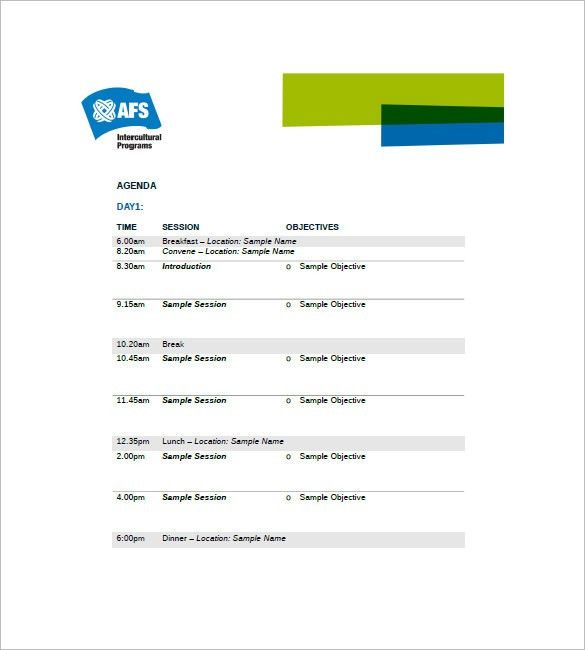 Event Agenda Template – 8+ Free Word, Excel, PDF Format Download ...