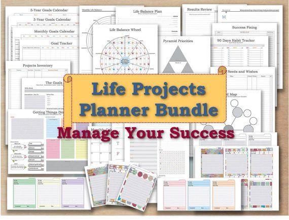 Productivity planner PDF template 2017 Undated calendar bullet