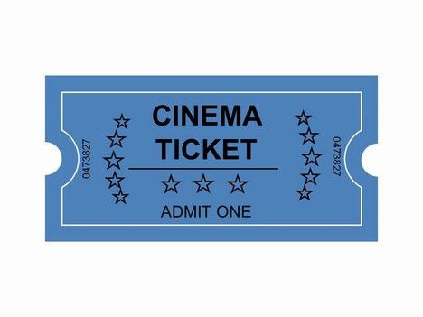 Movie Ticket Clip Art | Cinema Tickets Clip Art PowerPoint ...