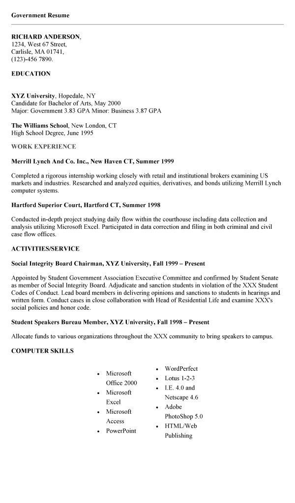 cover letter for government job cover letter database. example of ...