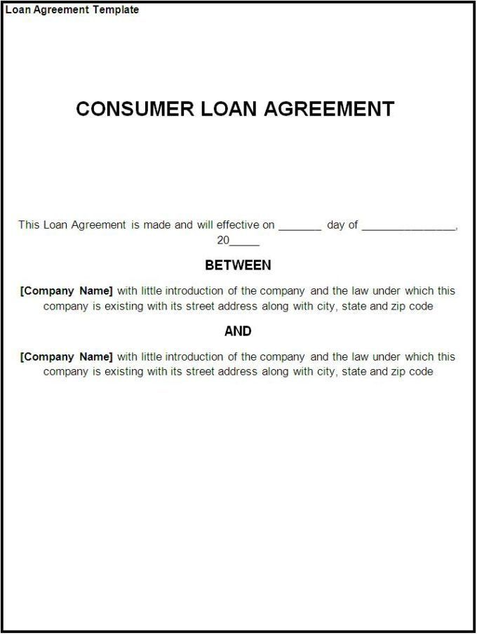 Perfect Business Loan Agreement Template Best Word Templates Ideas ...