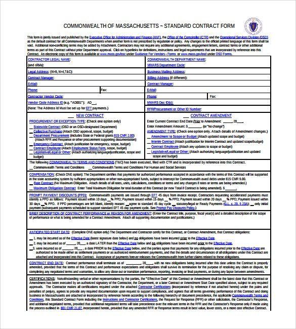 7+ Legal Contract Template - Download Free Documents in PDF, Doc