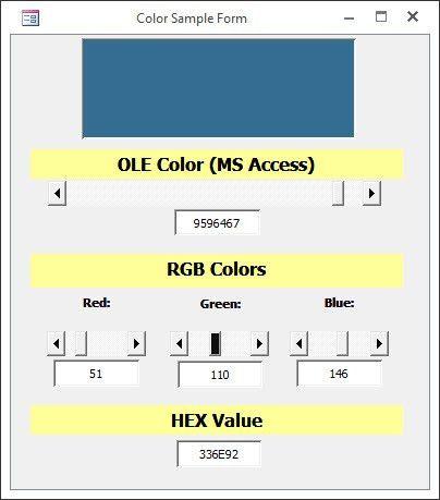Colors Converter - MS Access | DEVelopers HUT