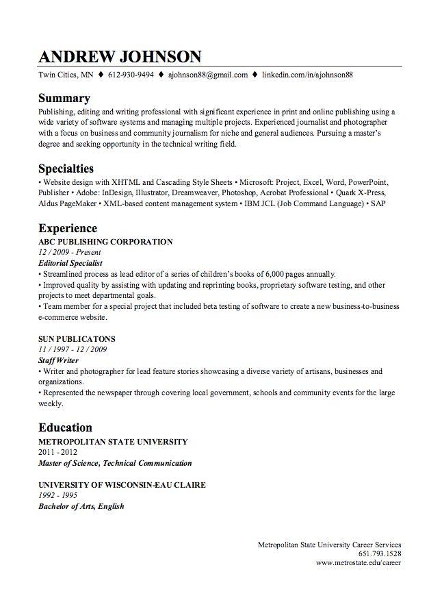 LinkedIn Resume Builder Sample - http://resumesdesign.com/linkedin ...