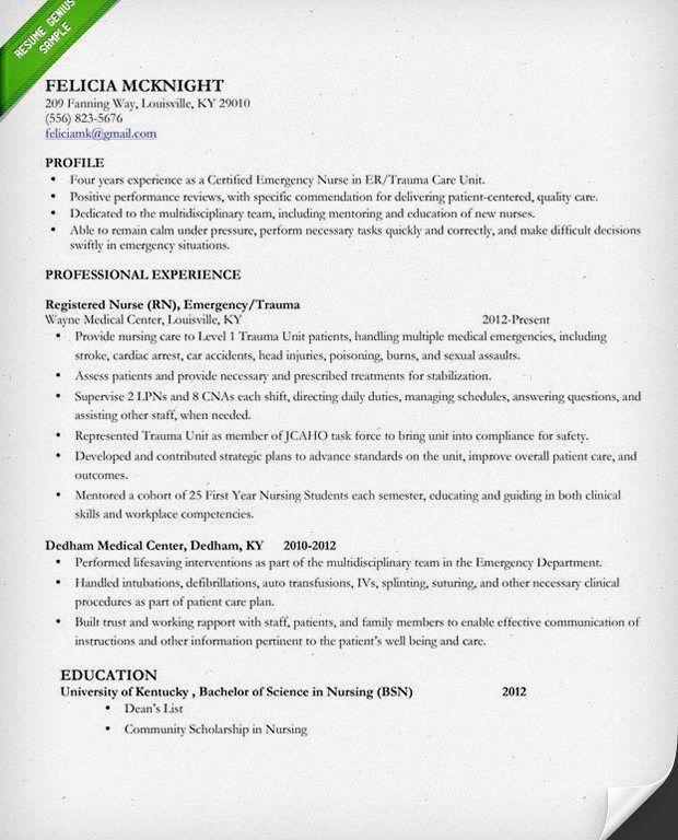 Nursing Resume Templates. College-Student-Resume-Examples Nursing ...