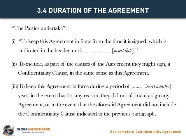 CONFIDENTIALITY AGREEMENT - Contract Template and Sample