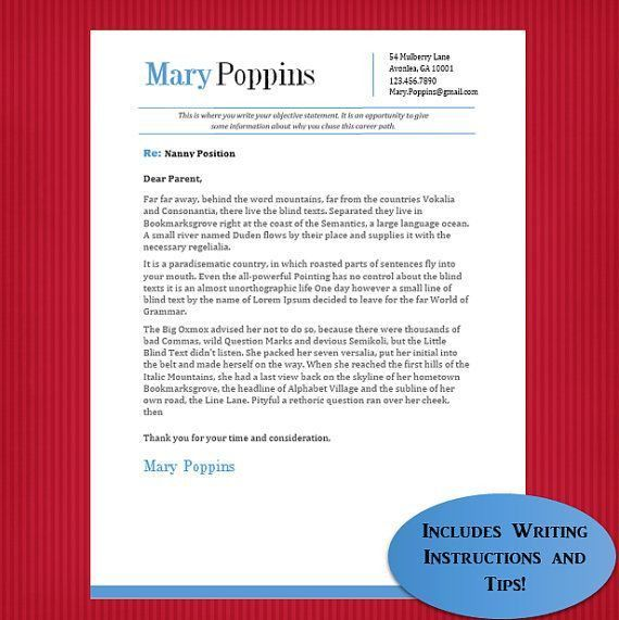 nanny resume sample resume nanny template nanny resume medium size ...