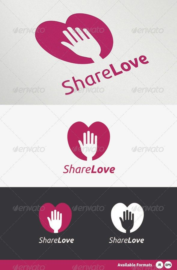 Share Love Logo Template by mazdak1984 | GraphicRiver
