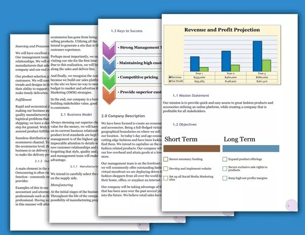 Sample business plan templates for the fashion business - Quora
