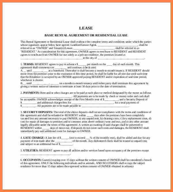 7+ apartment rental agreement template word | Purchase Agreement Group