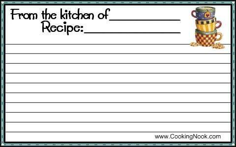 Free printable recipe cards. | Bridal Shower Ideas | Pinterest ...