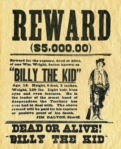 8 Famous Wanted Poster Designs