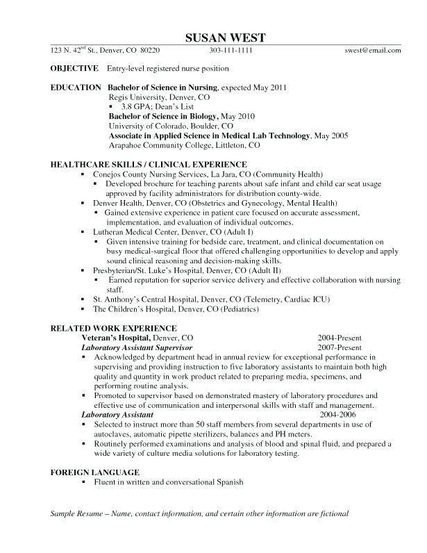 Critical Care Registered Nurse Resume Template. 32 best healthcare ...
