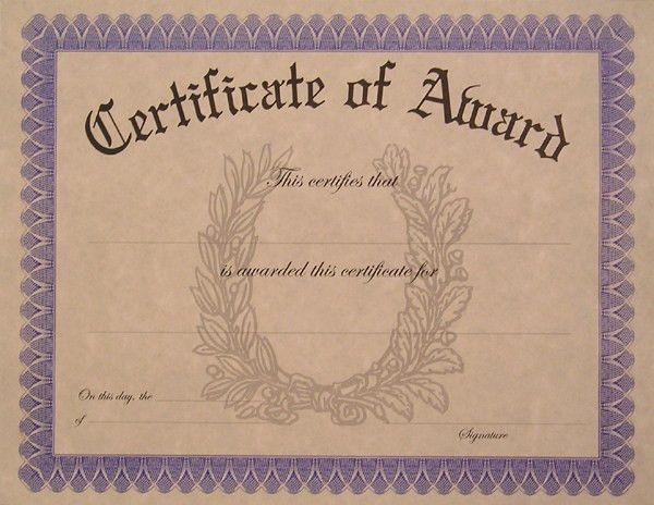 Blank Award Certificate Templates | Download vector about blank ...
