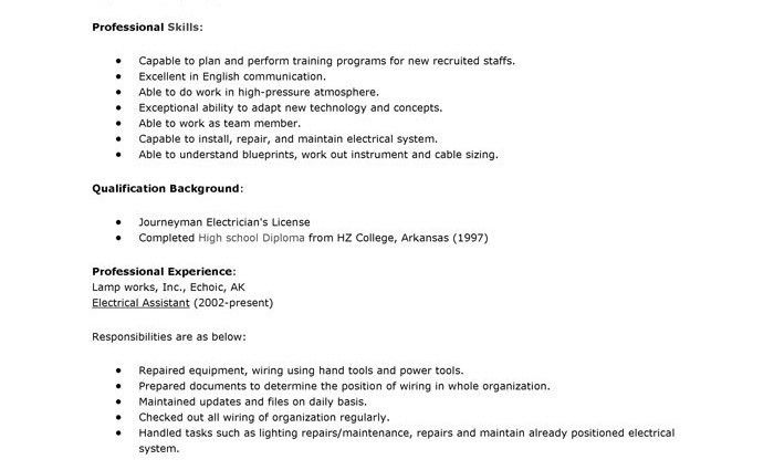 resume for apprentice electrician unforgettable apprentice