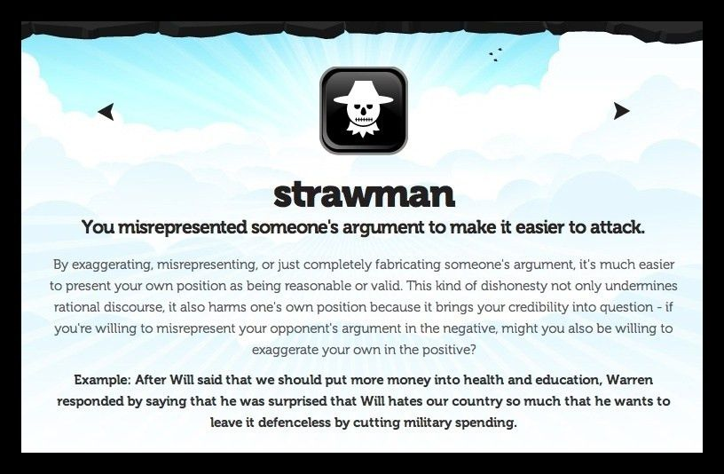 Ask a Nuwaupian, What is a Straw Man Argument?