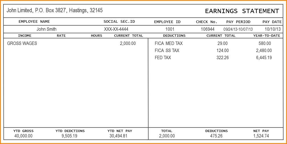 Check Stub Template Free.pay Stub Image 5.jpg - Loan Application Form
