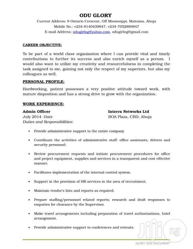 cover letter for an administrative officer job - Cover Letter 4You