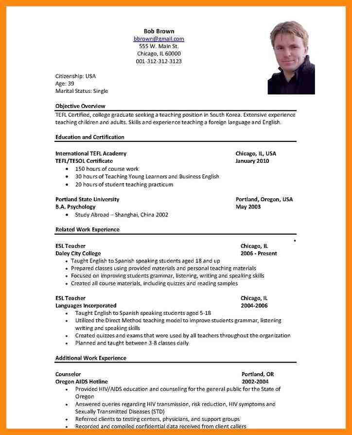 7+ resume samples for teacher job | manager resume