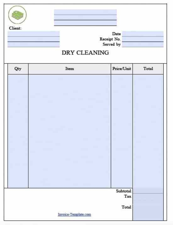 Free Laundromat (Dry Cleaning) Invoice Template | Excel | PDF ...
