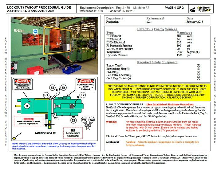 Lockout Procedures, OSHA Compliance Audits, Safety Training.