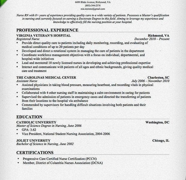 Stunning Registered Nurse Resume Dazzling - Resume CV Cover Letter