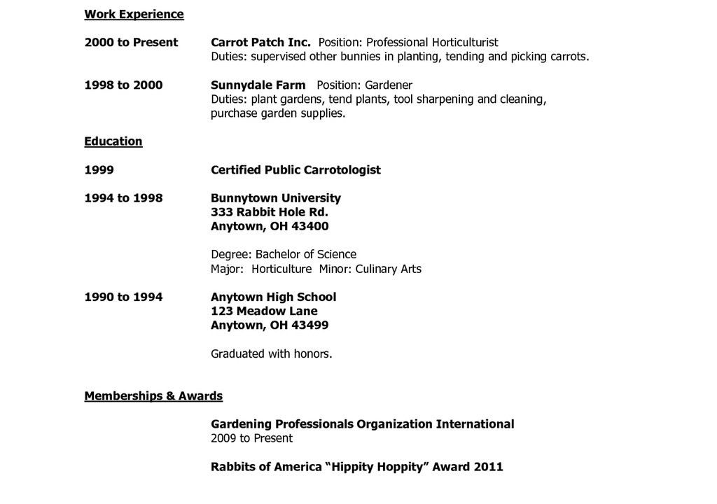 College Resume For High School Seniors - Best Resume Collection