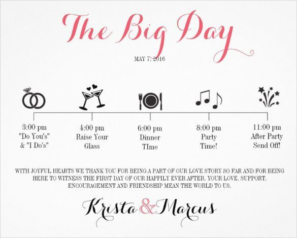 Best 25+ Wedding itinerary template ideas on Pinterest | Wedding ...