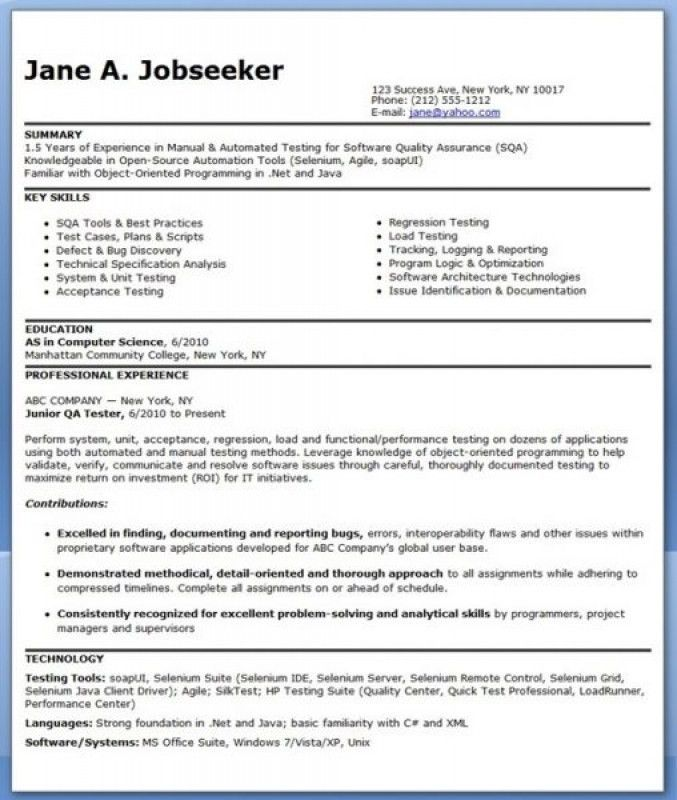 software testing resume samples for freshers fresher testing cv