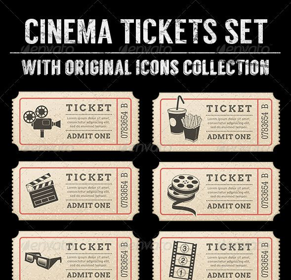 Download Cinema Tickets Templates Free